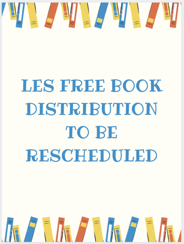 Free Book Distribution to be Rescheduled Featured Photo