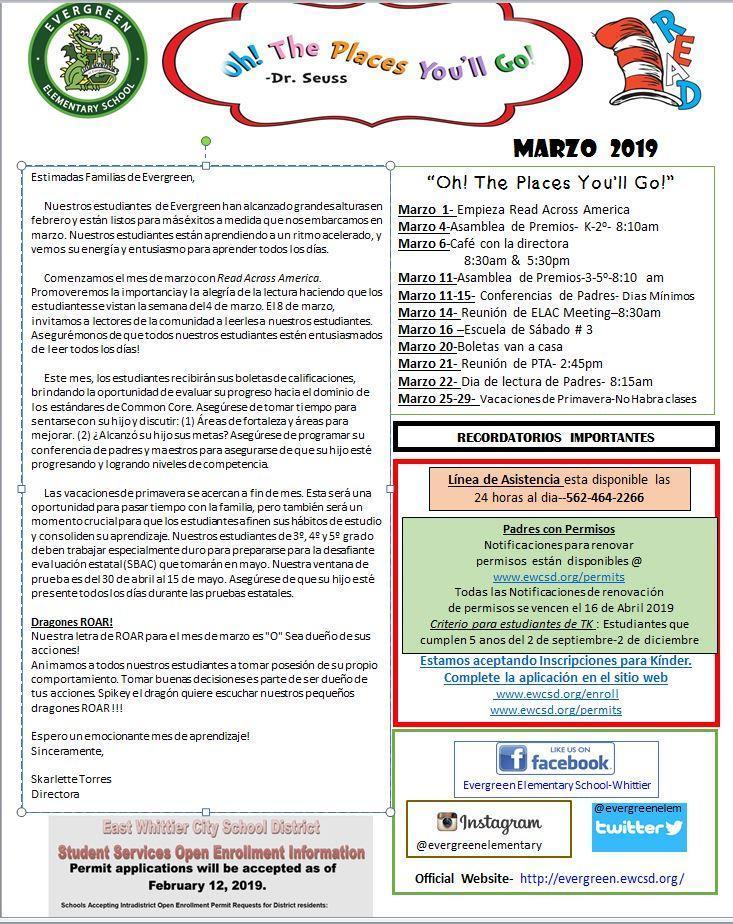 March Dragon Times Spanish