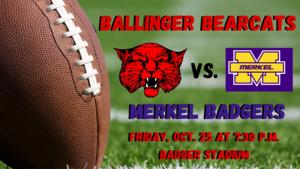 Ballinger Bearcats vs. Merkel Badgers