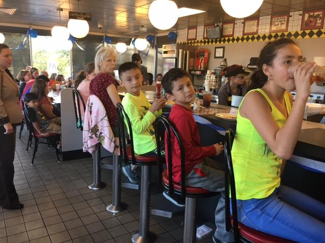Hanging out at Waffle house spirit night