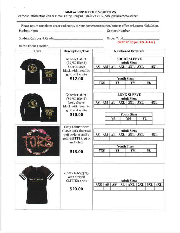 Booster Club Items are Now Available! Thumbnail Image
