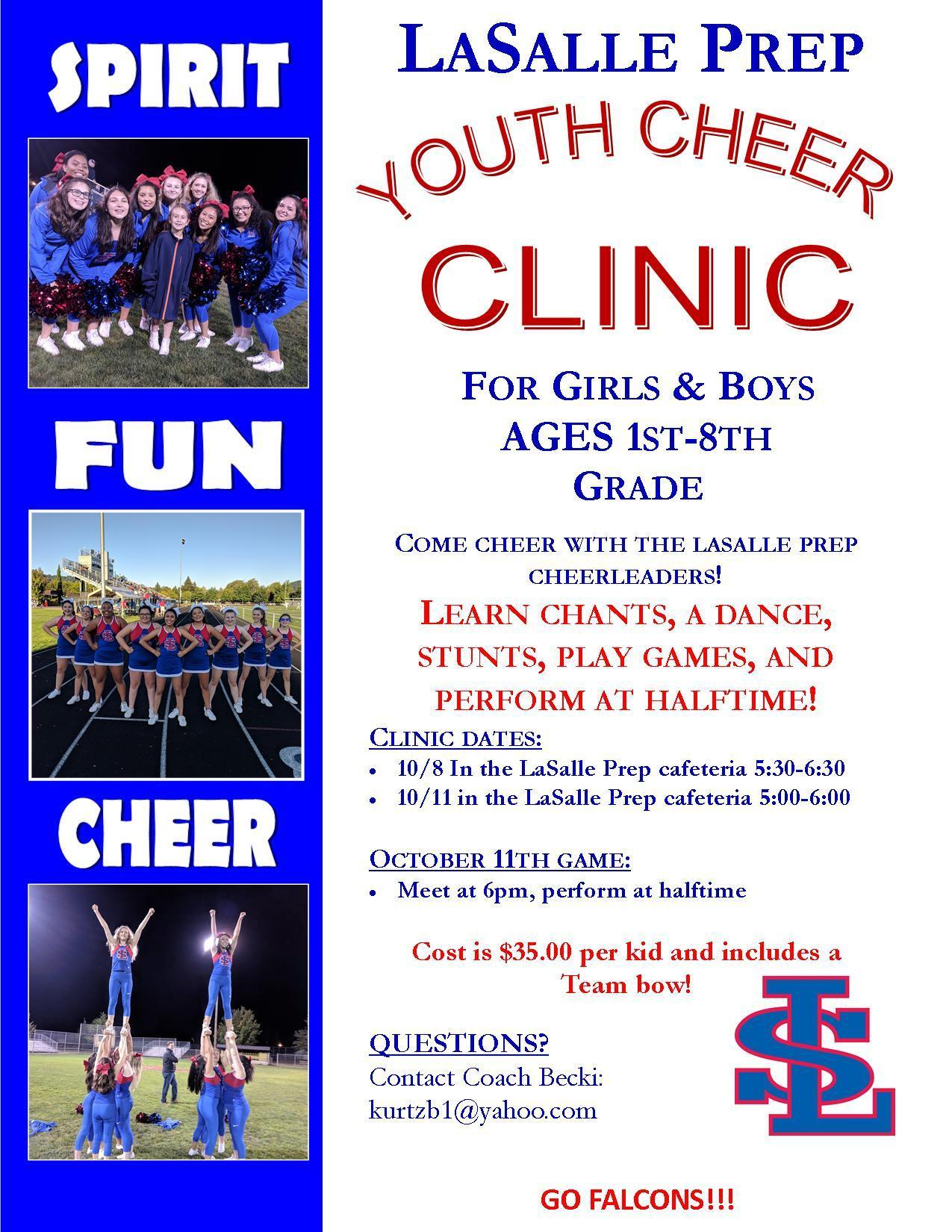 youth cheer clinic flyer