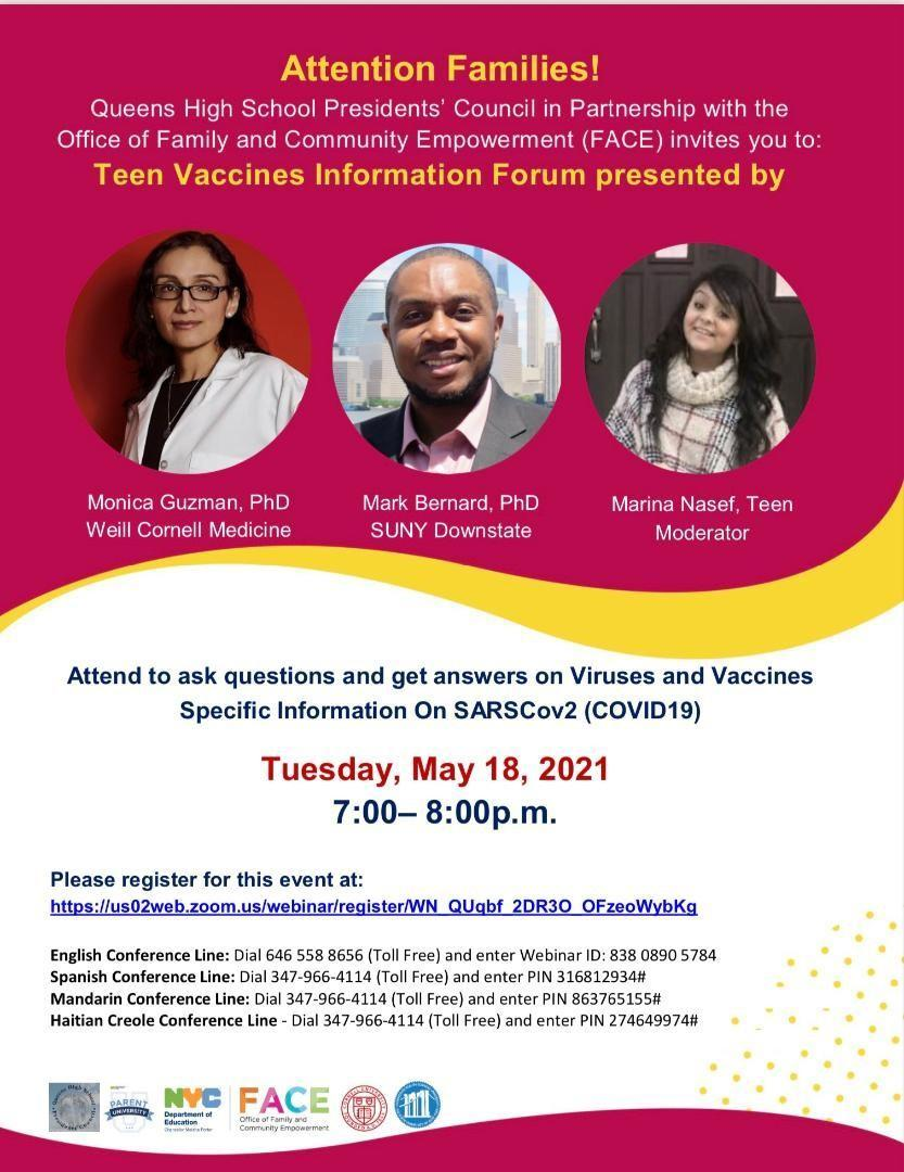 Teens & Vaccines Flyer