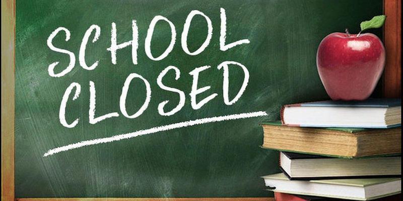 School Closed written on a chalkboard