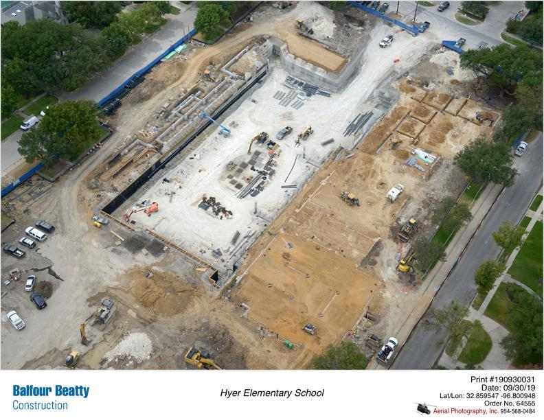 Hyer Elementary   Construction is underway and the campus is on track for an August 2020 completion.