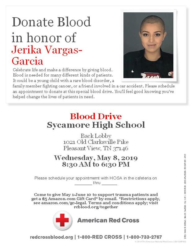 Blood Drive May 8