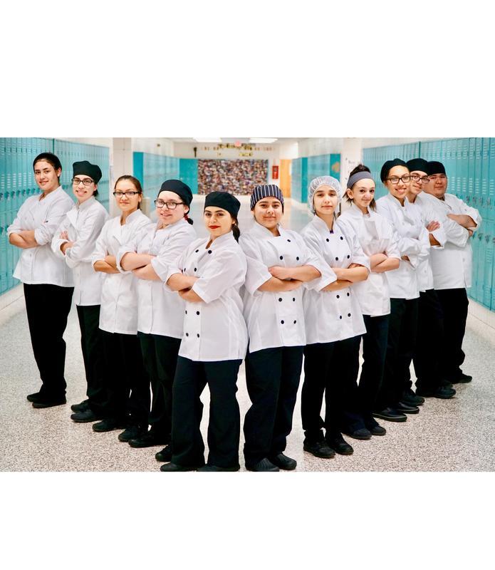 McAllen ISD Culinary arts students