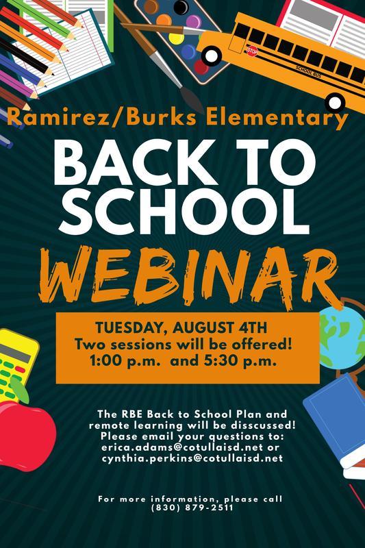 Back to school webinar info