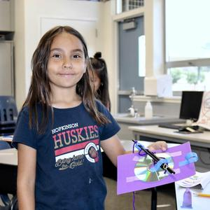 Magnolia Student Showcasing STEM Project