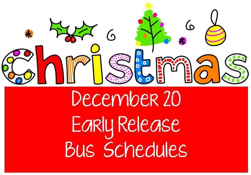 early release bus schedule on december 20