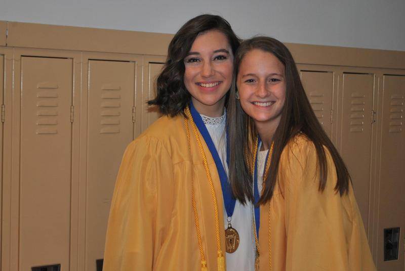 2 graduating girls