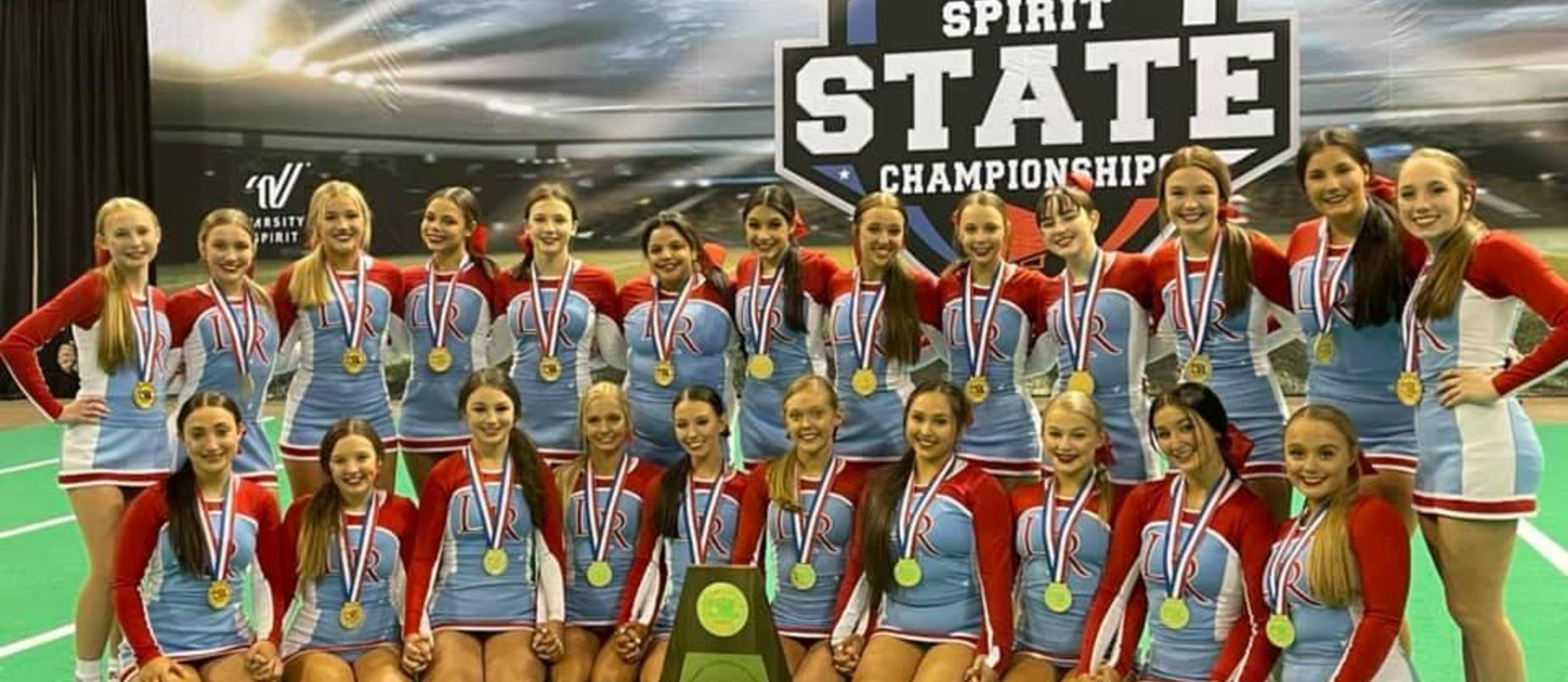 Lumberton High School Cheerleaders State Champions