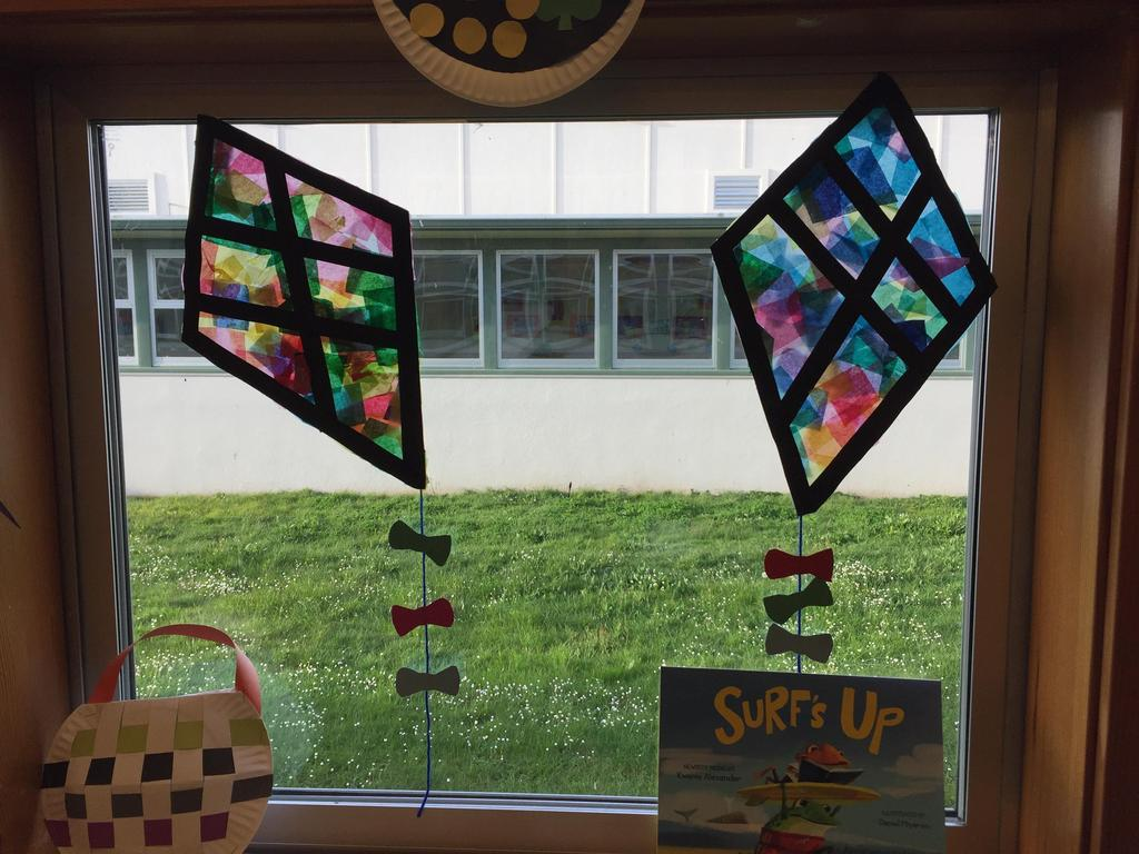 stained glass kites