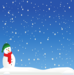 Picture of a snowman with a snowy background