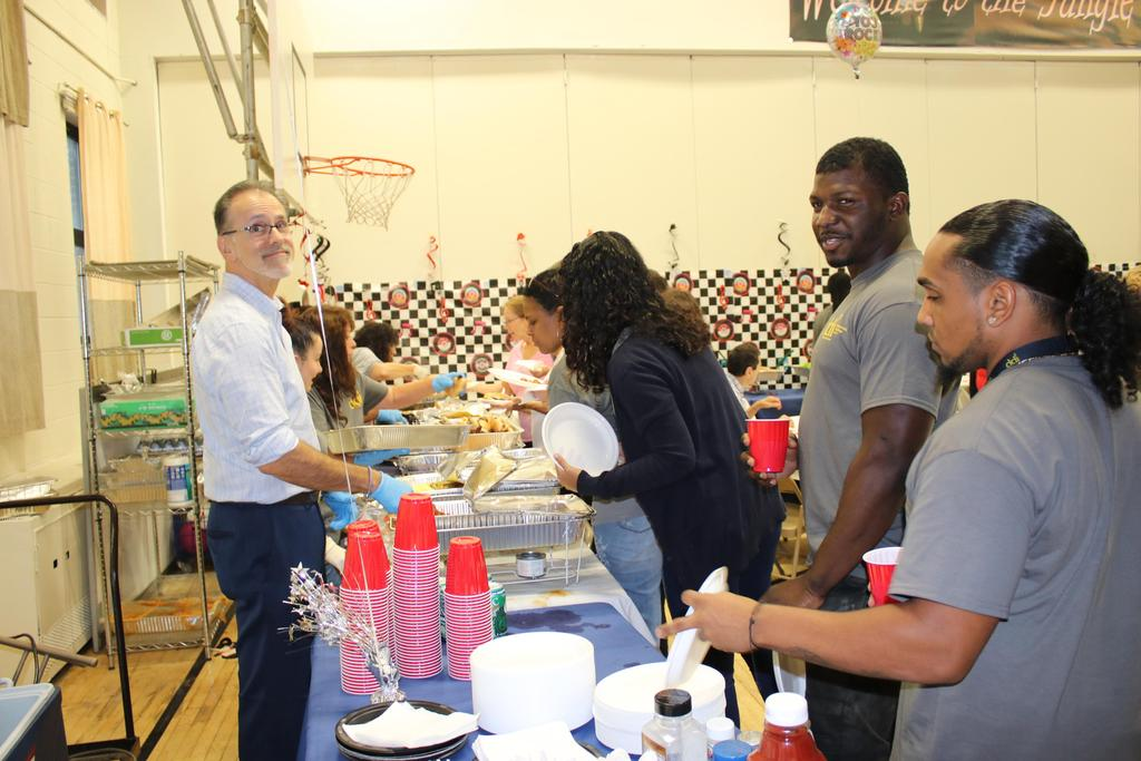 Staff enjoying DSP Week at luncheon