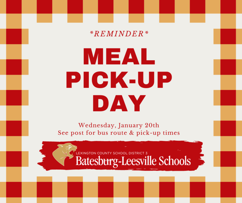 Free Meal Pick-Up Route for January 20th