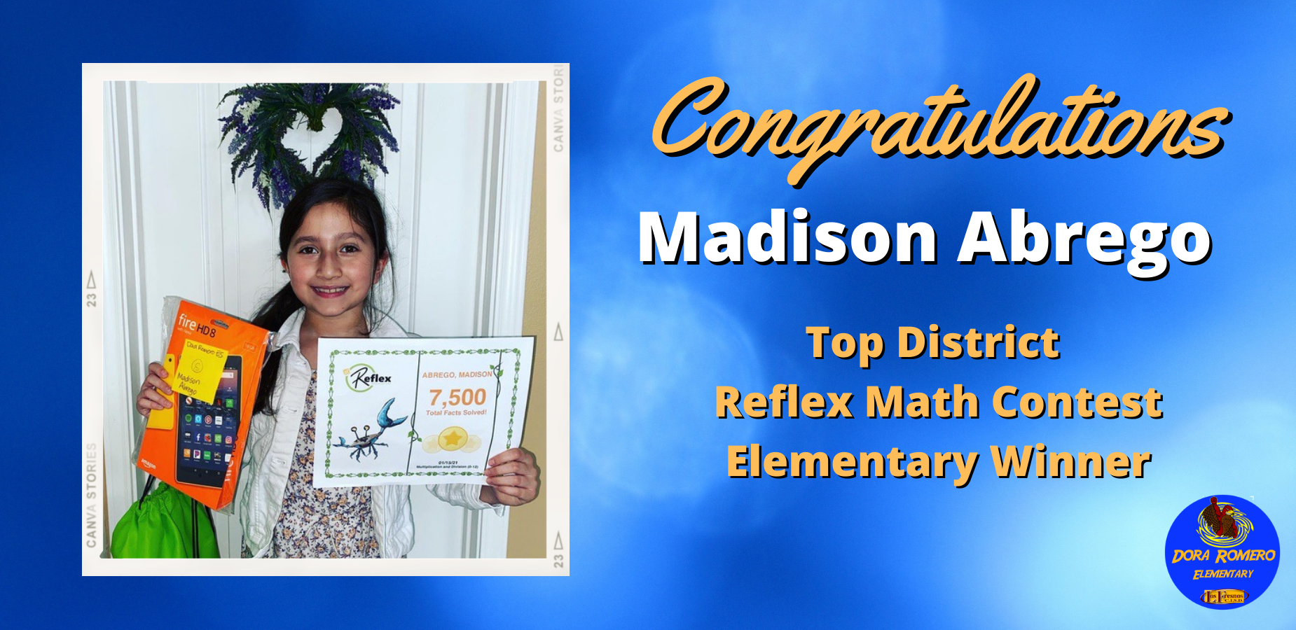 Congratulations Madison Abrego!