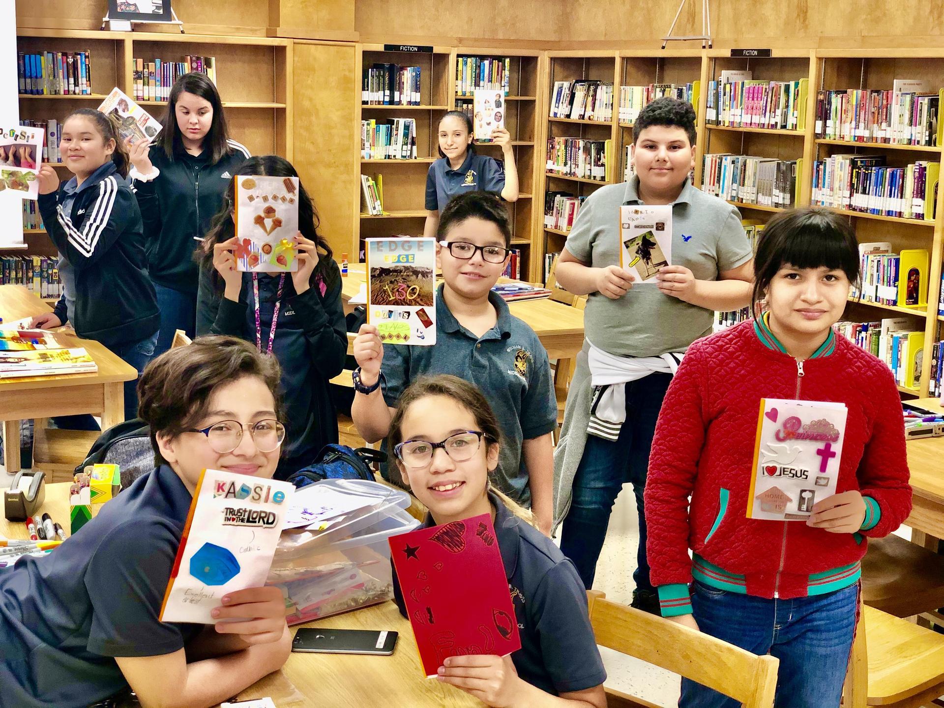 Book Club members pose.