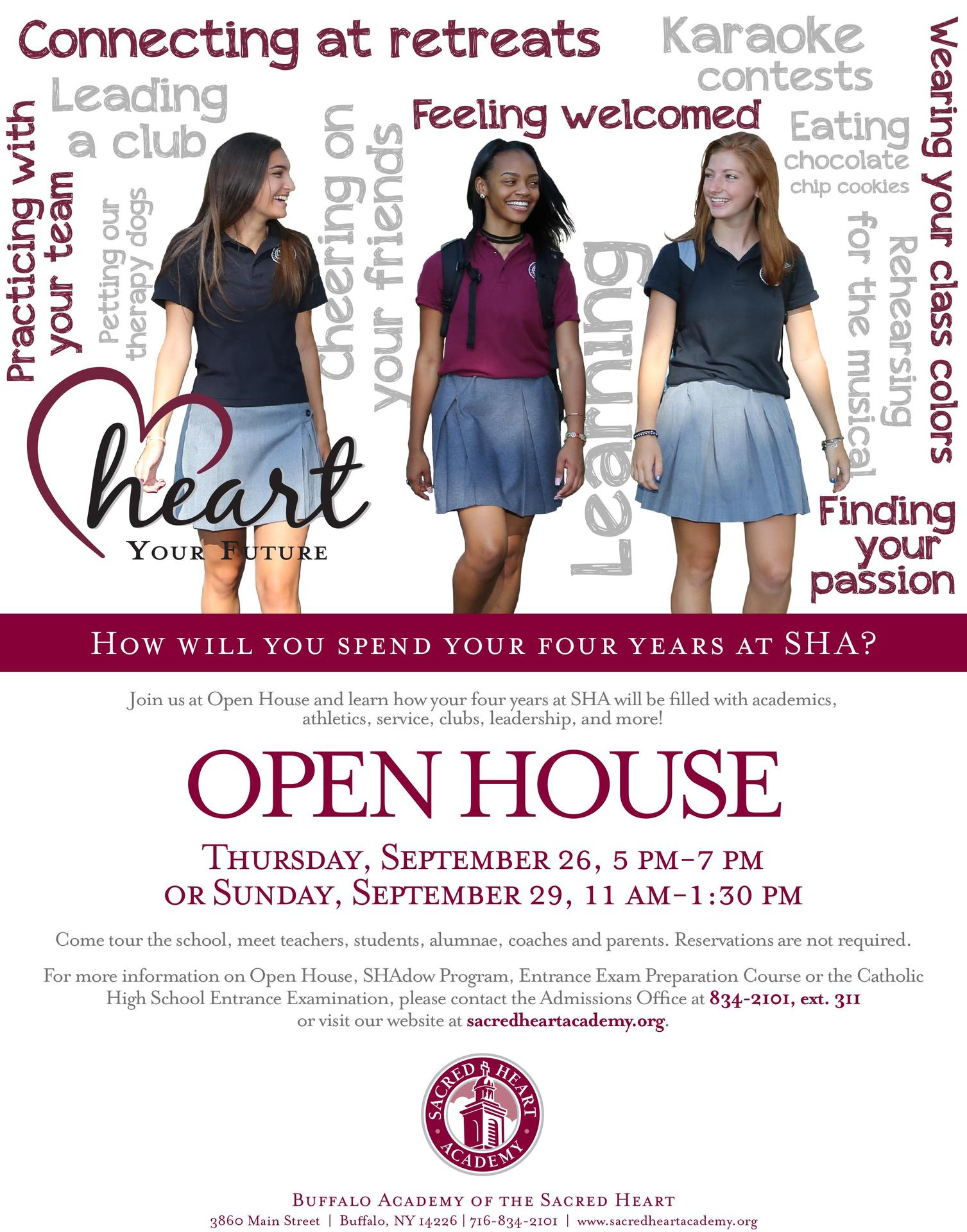Admissions Calendar Admissions Buffalo Academy Of The Sacred Heart