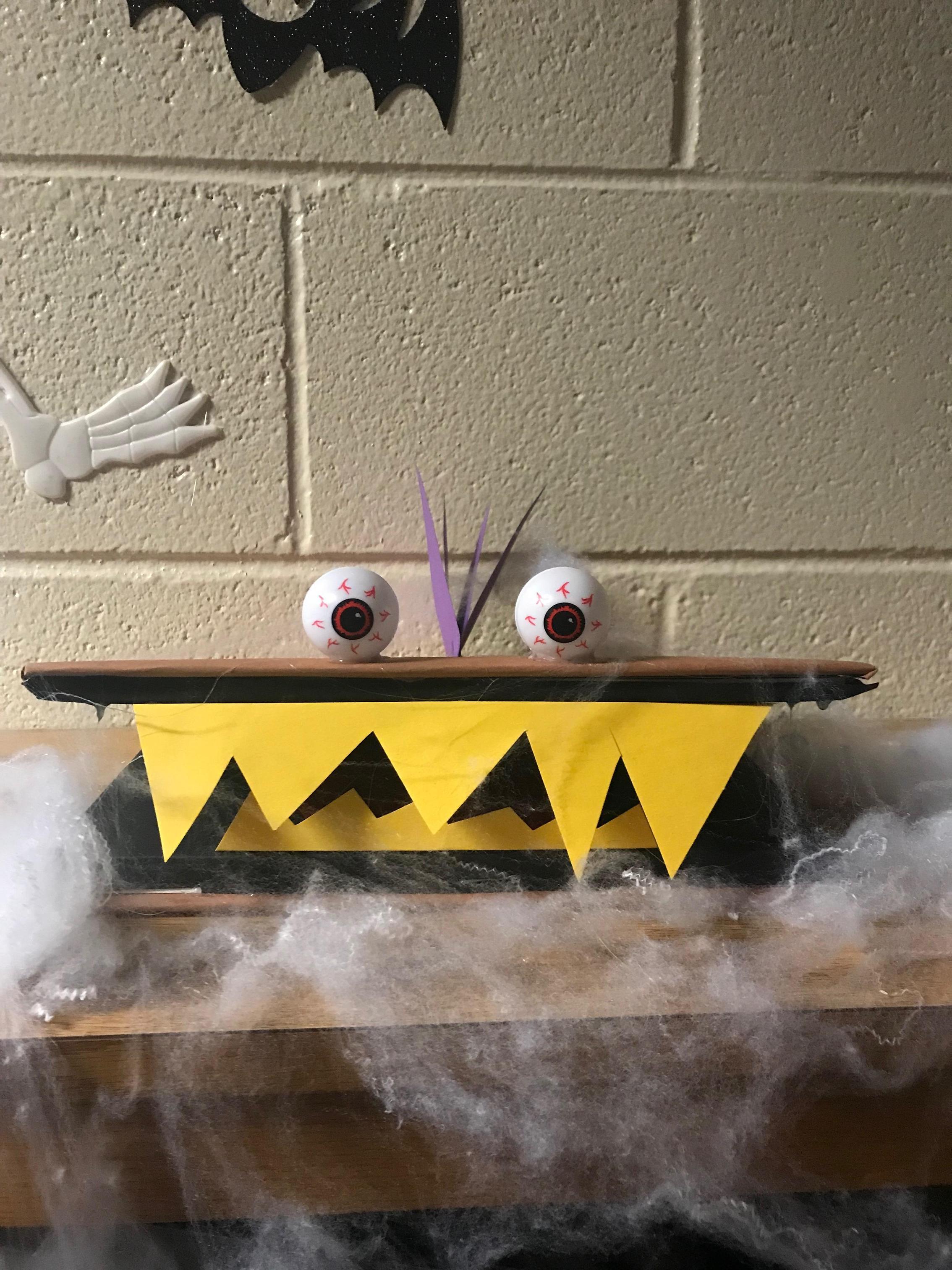 Halloween Monster Book Art