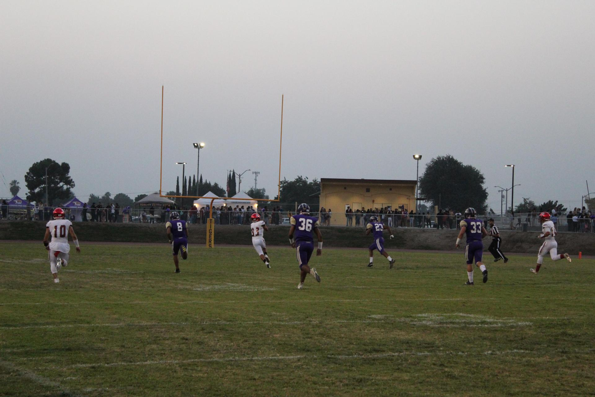 Football players at Lemoore