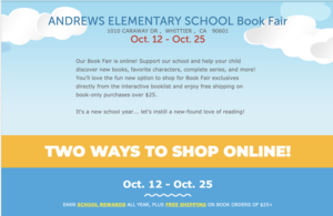 Scholastic book fair flyer
