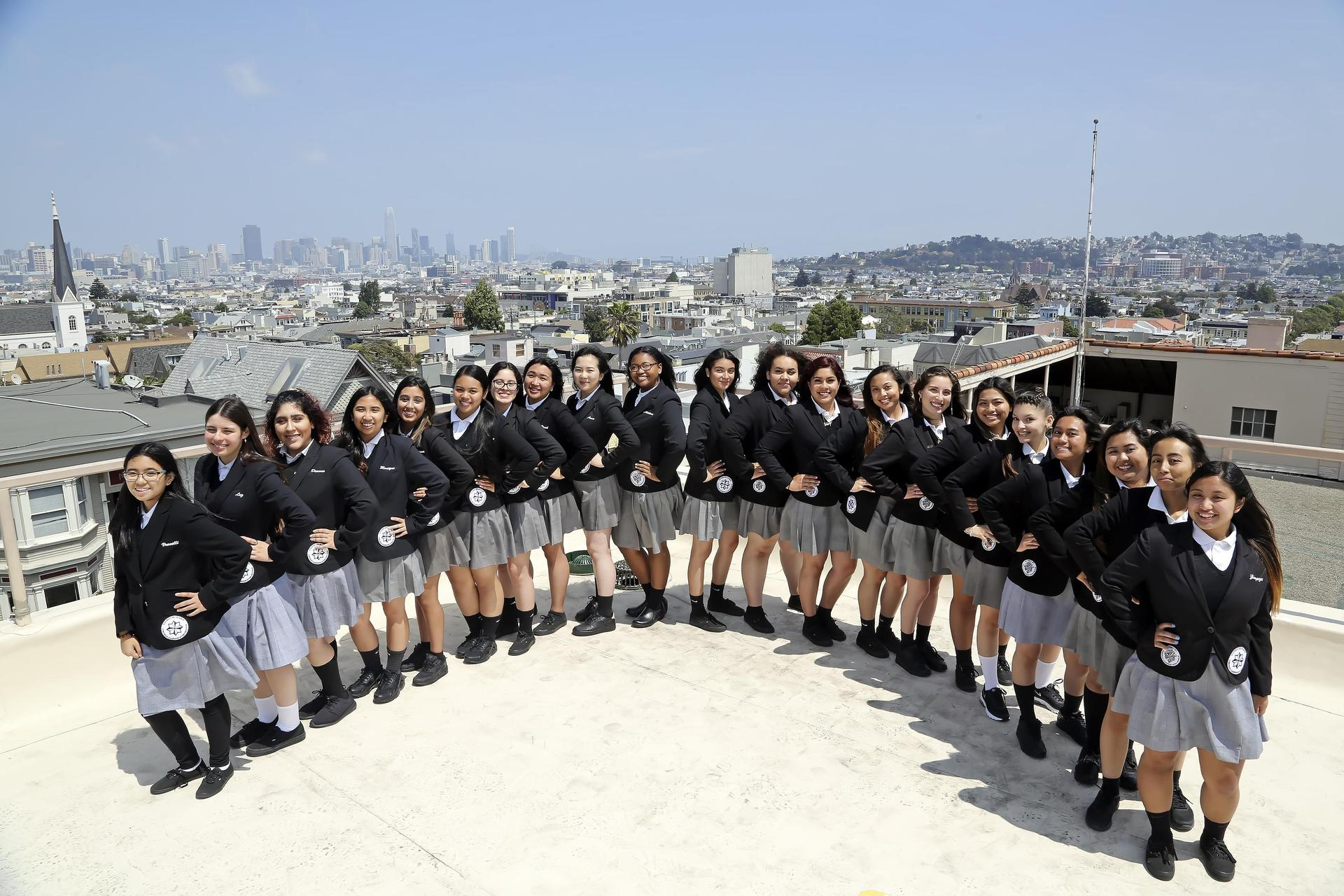 girls and city view