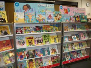 Book fair book shelves.
