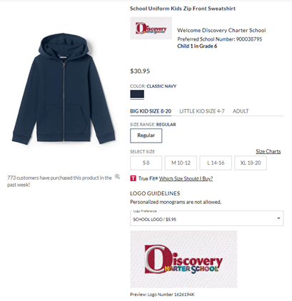 Discovery Custom Hoodies at Land's End