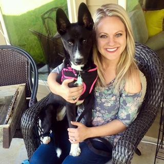 Mrs. Crumpler and her sweet girl, Pecos!