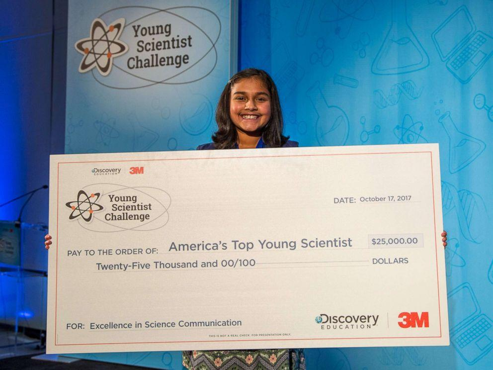 A big congratulations to STEM seventh grader, Anjali Rao! She was named Americau2019s Top Young Scientist at the 3M Young Scientist Challenge.