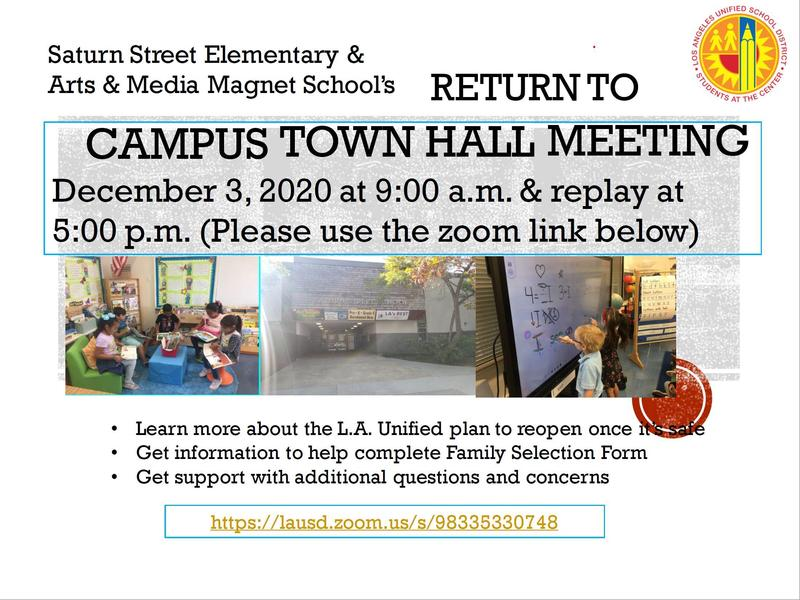 Return to Campus Town Hall Meeting December 3rd at 9:00 am Featured Photo