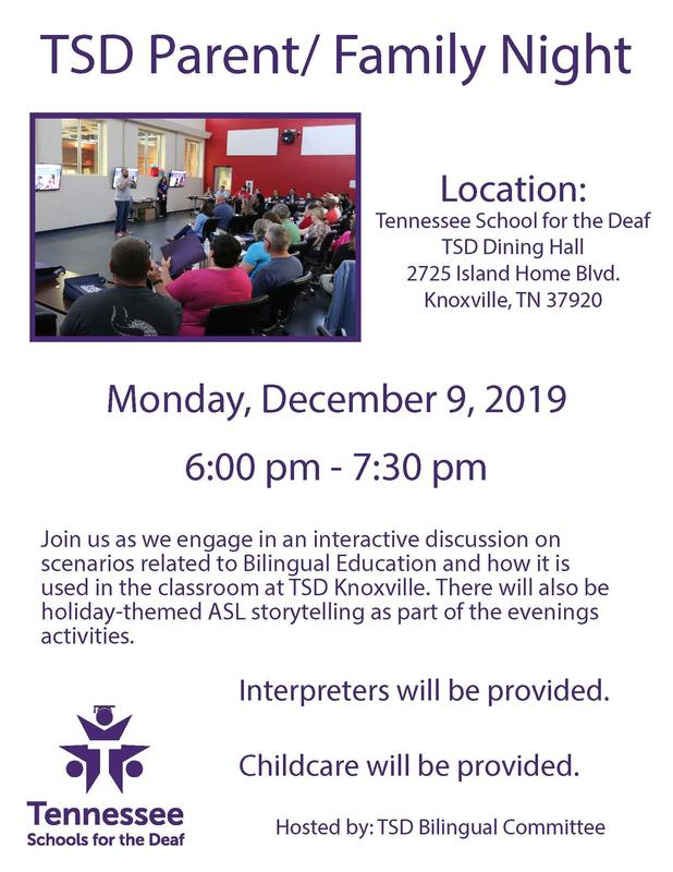 TSD Parent/Family Night 12/9/19