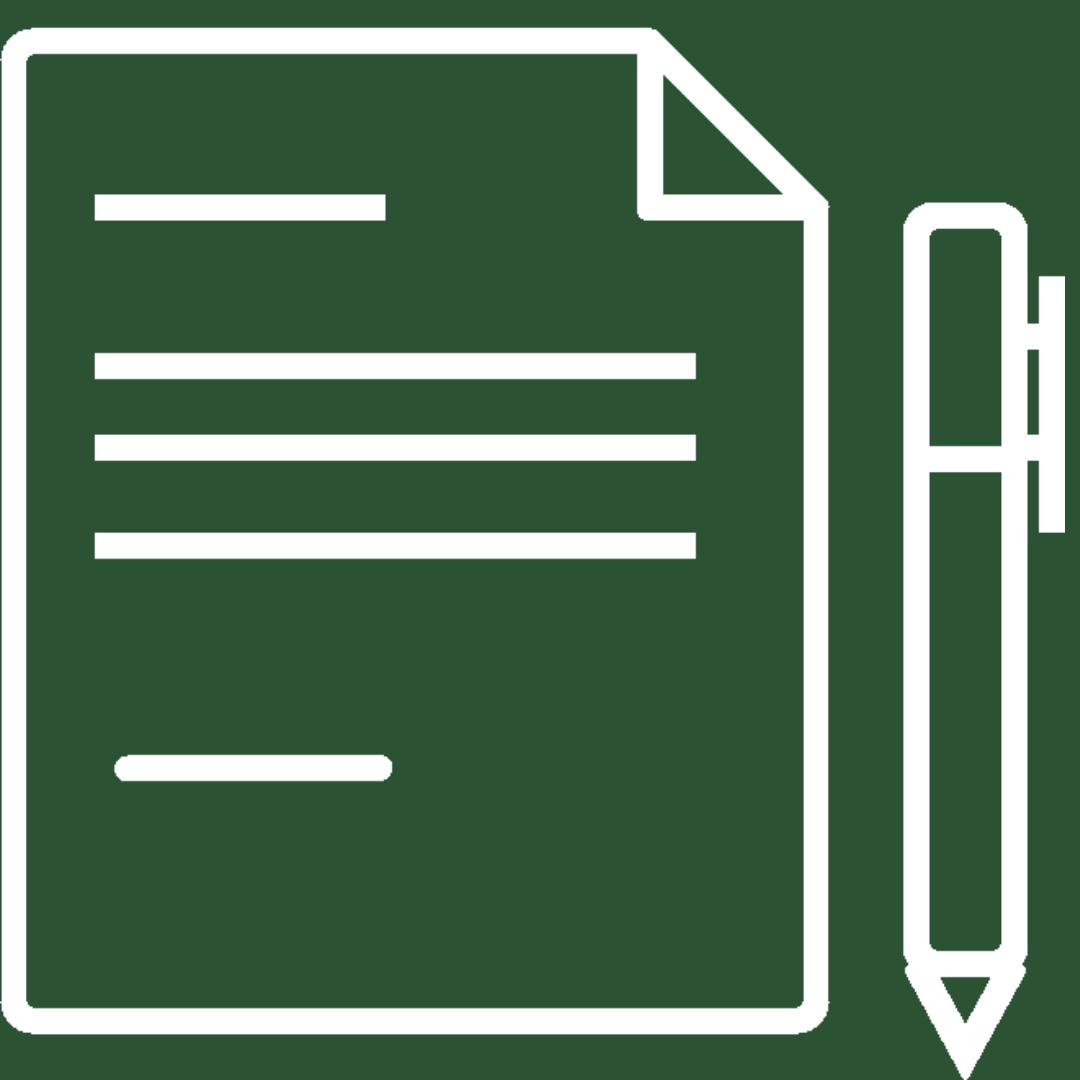 pencil and paper icon