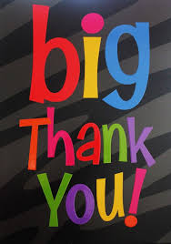 Text with A Big Thank You
