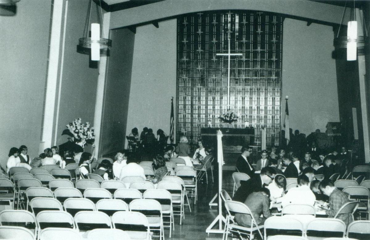 Inside original Sanctuary (now Founder's Hall)