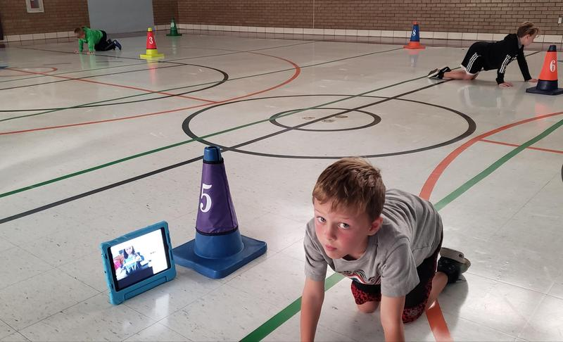 PE virtual learning and in person learning!