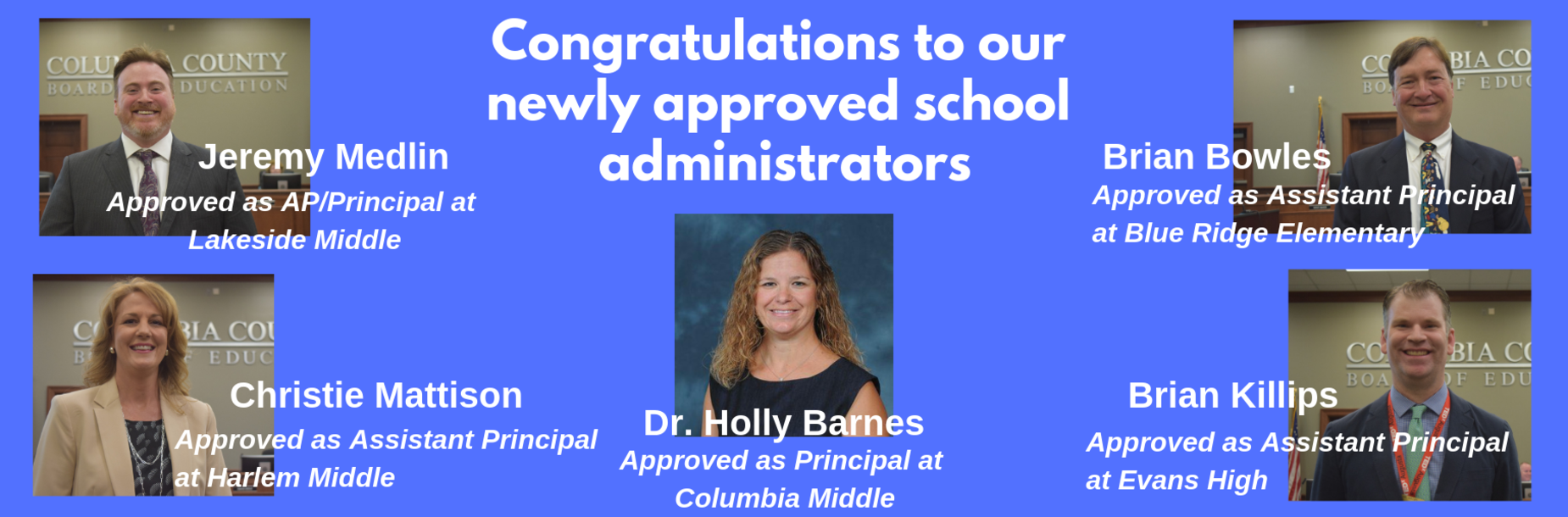 New administrators approved during a special called meeting