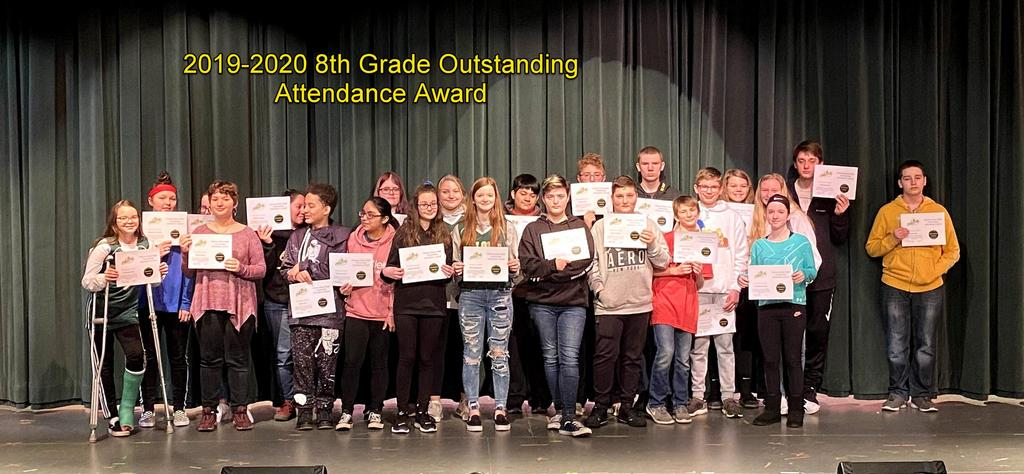 8th Grade Outstanding Attendance