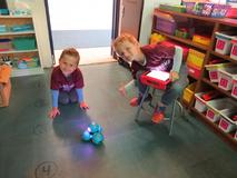 Dot and Dash Robot with students