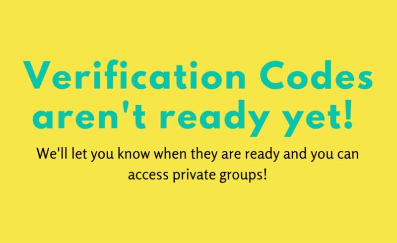 verification codes