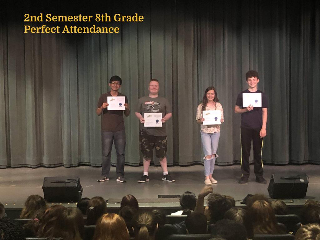 S2 8th Grade Perfect Attendance