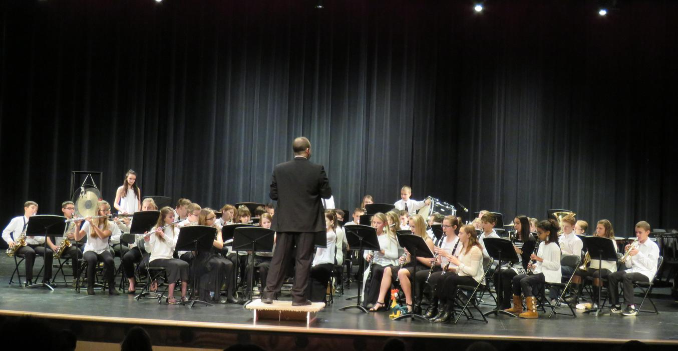 TKMS students perform their first band concerts of the year.