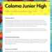 Coloma Junior High Newsletter Screenshot