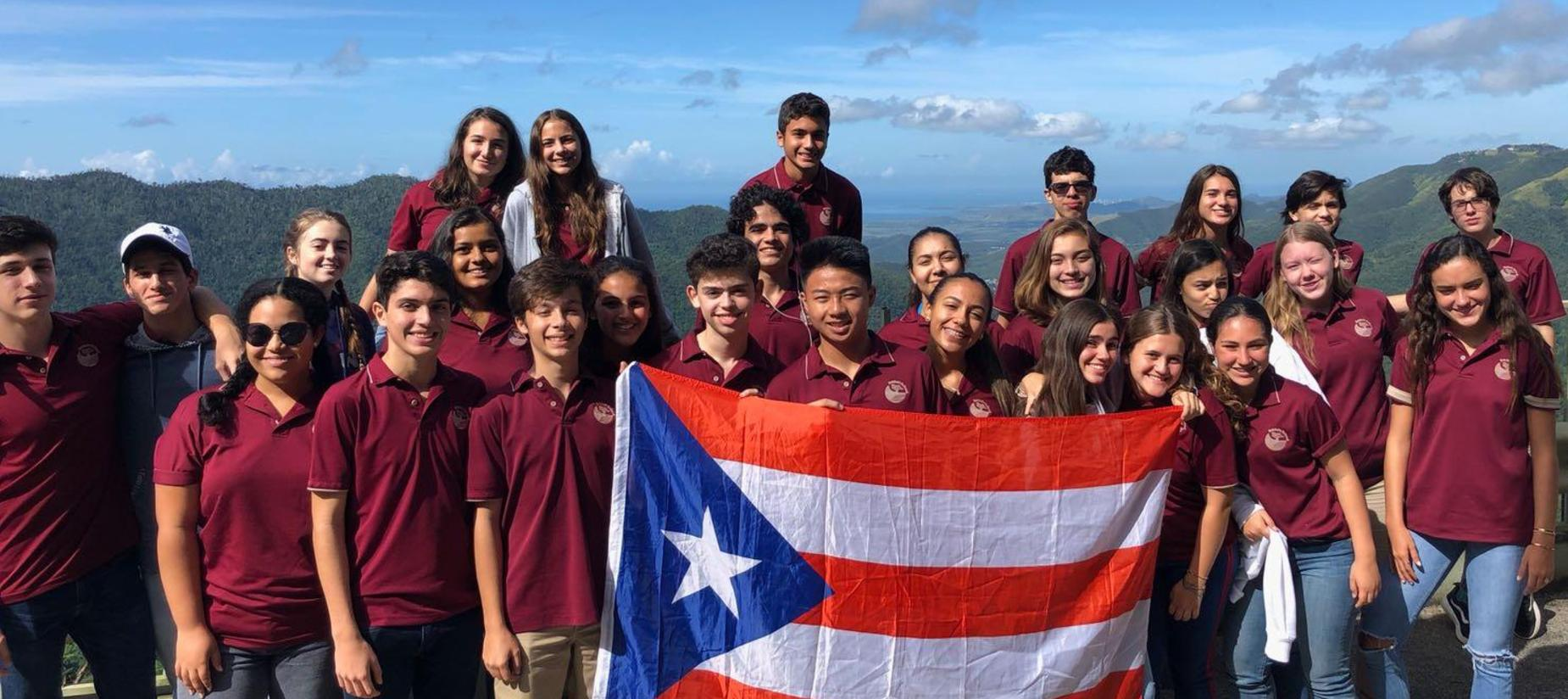 High School students at The Baldwin School of Puerto Rico