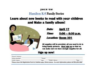 Family Stories/Album Flyer