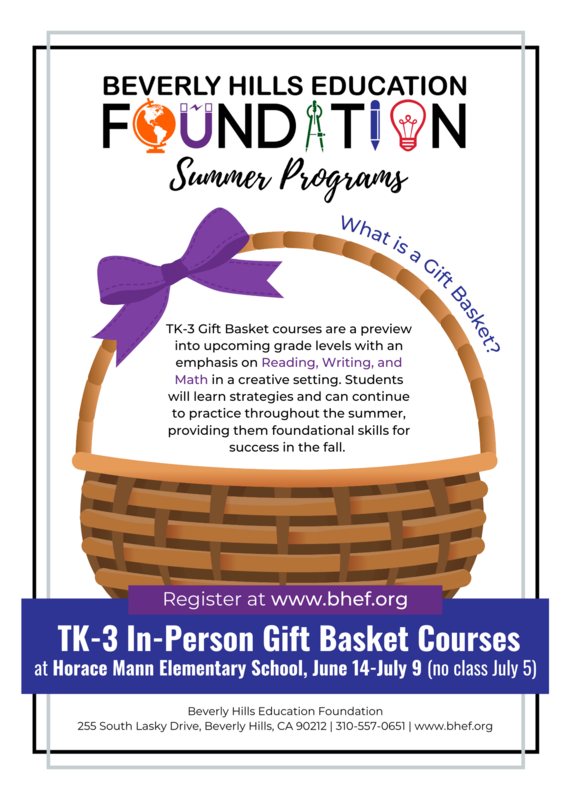 Register for our TK-3 Gift Basket Courses!!! Featured Photo
