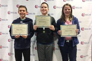 GeoBee SVMS Top three