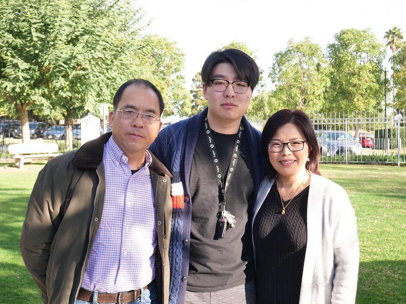 Jim Wang and his host parents