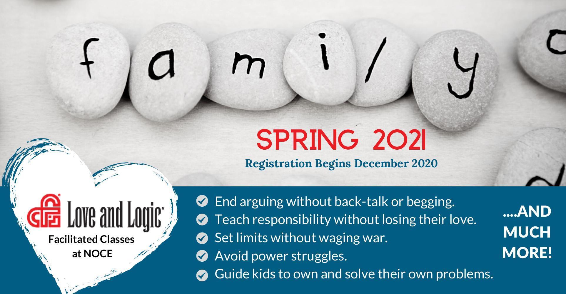 Love & Logic - Spring 2021 Registration & Information